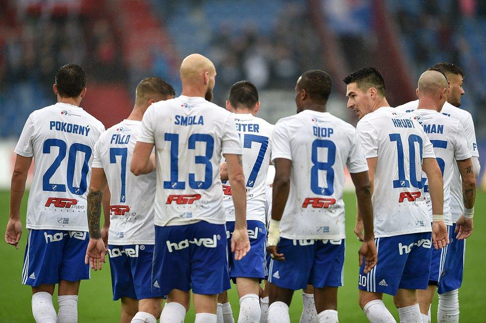Utkání 12. kola první fotbalové ligy: Baník Ostrava - Fastav Zlín, 5. října 2019 v Ostravě.