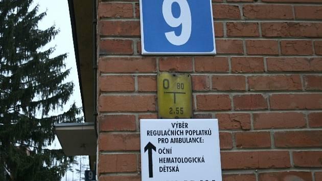 Pokladna v nemocnici ve Zlíně