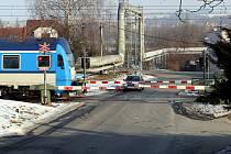 Železniční přejezd km 151 na  Halenkovice v Napajedlích.