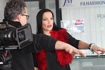 Zpěvačka Tarja točí ve Zlíně videoklip
