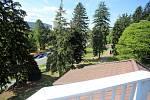 Vila Tomáše Bati ve Zlíně. Pohled s vyhlídkové věžičky