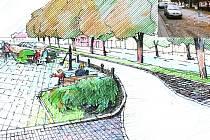 Vizualizace ukazuje, jak bude vypadat po rekonstrukci severní část Masarykova náměstí.