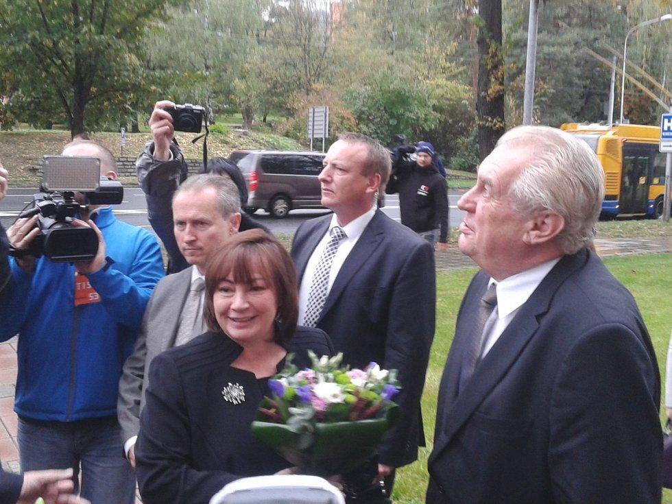 Prezident Miloš Zeman ve Zlínském kraji