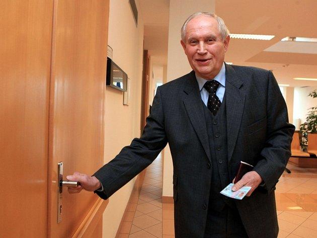 Ignác Hoza u soudu ve Zlíně.