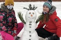 Fotka našeho sněhuláka.