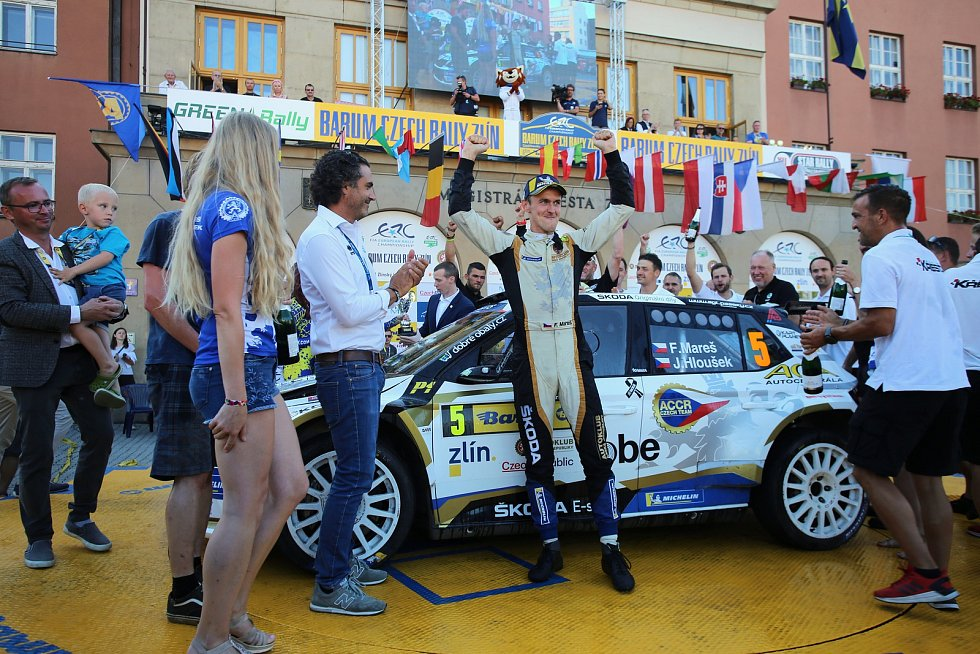 Barum Czech Rally Zlín 2019  cíl F.Mareš