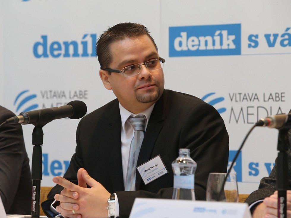Akce Deník s Vámi, panelová diskuze s hejtmanem Zlínského kraje. Martin Nevyjel