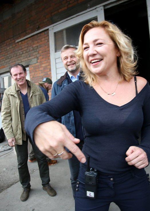 Natáčení filmu Metanol ve Zlíně.rezisérka Tereza Kopáčová