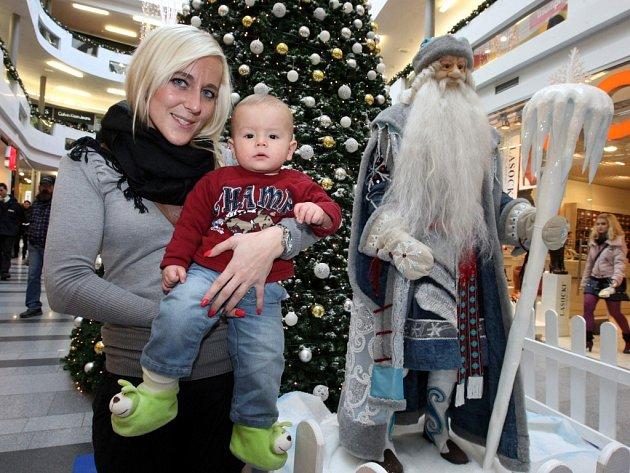 Výstava Mrazík v obchodním centru Zlaté jablko ve Zlíně.