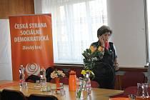 Ve volebním štábu Aleny Gajdůškové.