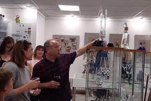 Vernisáž výstavy Glass Atelier Morava ve Vizovicích.