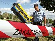 Nehoda trolejbusu v Otrokovicích-Kvítkovicích.