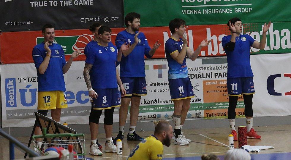 Volejbalové utkání mezi Ústím a Zlínem