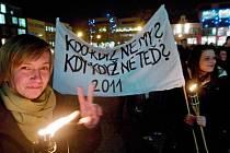 Studenti UTB si v předvečer 17. listopadu připomněli výročí sametové revoluce