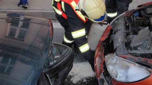 Nehoda dvou vozidel
