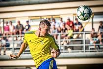 Útočník Baťova Pavel Krajča se na stadionu ve Slušovicích blýskl hattrickem. Kromě fotbalu hraje i futsal.