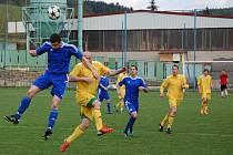 Valašské derby Kateřinice - Velké Karlovice (žluté dresy)