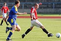 I. A třída: Jiskra Otrokovice (v červeném) - Žalkovice 1:2 (0:1)