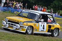 7. ročník Star Rally Historic v rámci letošní Barum Rally. Vítězná francouzská posádka Chieusse - Chiappe na Renault 5 Turbo