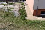 Havárie vody na Jižních Svazích ve Zlíně