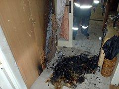 Požár v jednom zlínském bytě.