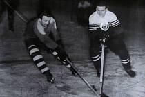 Svatopluk Klinkovský (vpravo) v zápase proti Kroměříži.