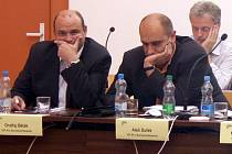 Jednání zastupitelstva, Ondřej Běták, Aleš Dufek (vpravo)