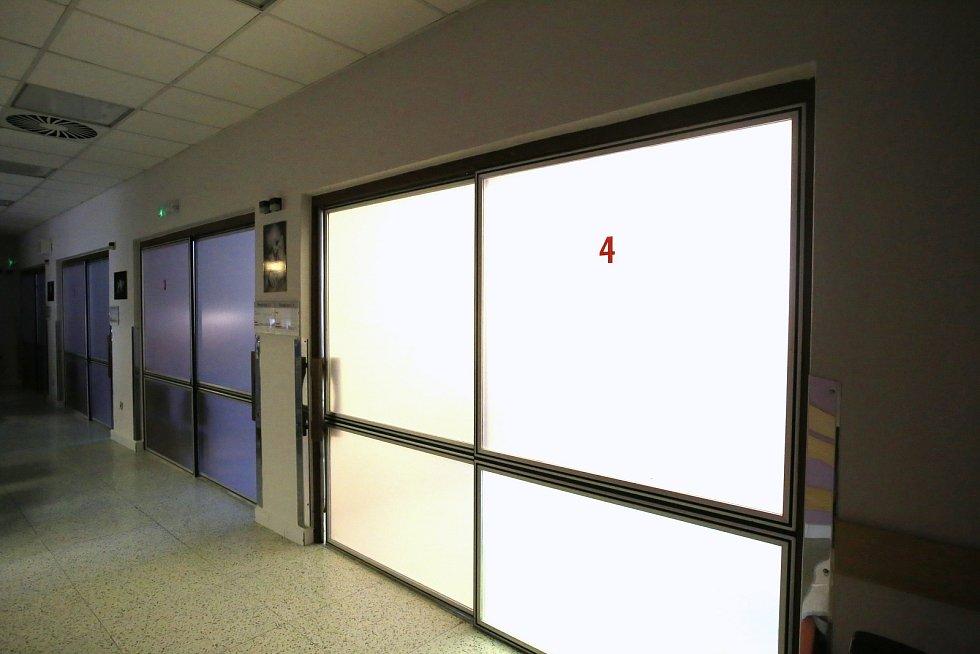 Gynekologico- porodnické oddělení Krajské nemocnice T. Baťi ve Zlíně.Porodní boxy