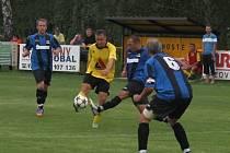 fotbal, KFS Zlín, I.B třída, Tečovice (v modročerném) - Roštění