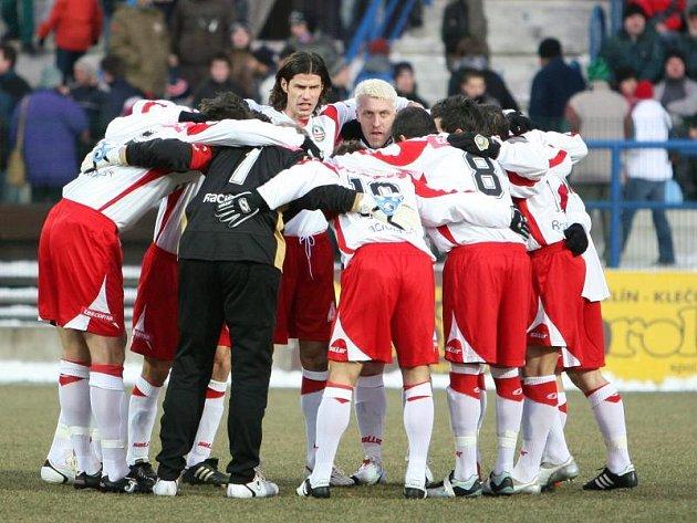 Fotbalisté Zlína před zápasem.