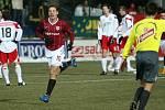 Sparťan Slepička se raduje z úvodního gólu zápasu.