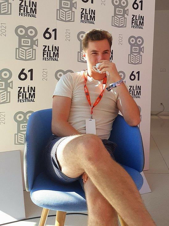 Veronika Divišová a  Oskar Hes, young stars letošního Zlín Film Festivalu.
