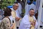 Mše svatá k svátku Těla a Krve Páně ve zlínském Parku Komenského. 23.6.2019