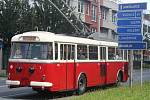 Historický trolejbus. Ilustrační foto.