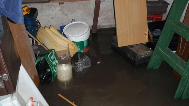 Zaplavený sklep. Ilustrační foto
