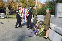 Slavnostní akt předávání praporu aktivním zálohám se konal v Den válečných veteránů 11. listopadu.