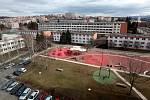 Hřiště na Jižních svazích ve Zlíně, březen 2021