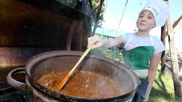 Vaření guláše. Ilustrační foto.