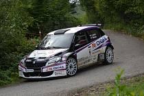 Jan Jelínek při testu před Barum Rally.