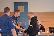 Obžalovaný Jan Schwab u zlínského krajského soudu.