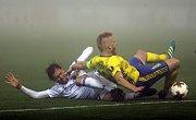 UEFA liga  FC Zlín -  FC Kodaň 1:1. Mlha.