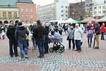 Svatomartinské hody na náměstí Míru ve Zlíně. Ilustrační foto