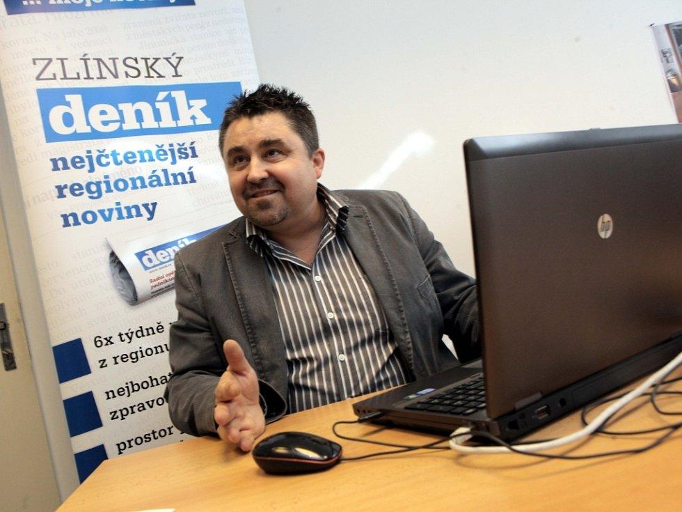 Tomáš Úlehla při on-line rozhovoru