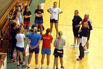 Příprava házenkářek Zlína ve sportovní hale Euronics ve Zlíně.
