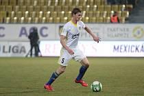 Záložník Petr Hronek (na snímku) je jediným hráčem Fastavu Zlín, který na jaře zatím skóroval.