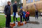 Luhačovický běh Kerteamu. Vyhlášení vítězů - chlapci do 12 let