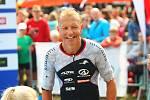 Osminásobnému vítězi Moraviamanu Petru Vabrouškovi na nejprestižnějším tuzemském podniku na dlouhých triatlonových tratích znovu unikly medailové příčky.