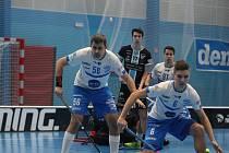 Florbalista Otrokovic Michal Nagy (číslo 56) příští sezonu hrát Superligu nebude.