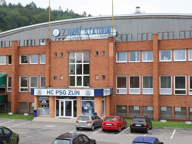 Zimní stadion Luďka Čajky ve Zlíně.