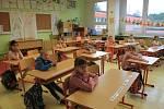 Návrat do lavic v 16. základní škole Okružní ve Zlíně.